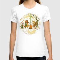 forest T-shirts featuring Animal Chants & Forest Whispers by Teagan White