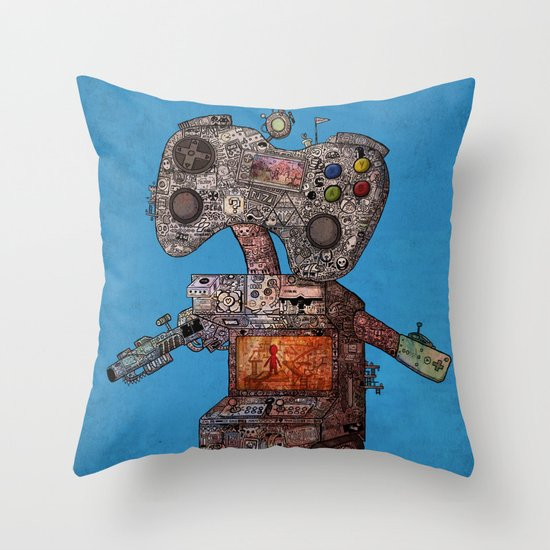 Gamebot Throw Pillow