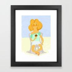Calor & Helado Framed Art Print