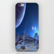 Extraterrestrial Landscape : Galaxy Planet Blue iPhone & iPod Skin