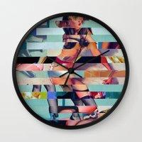 Glitch Pin-Up: Randi Wall Clock