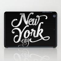 New York City vintage typography iPad Case