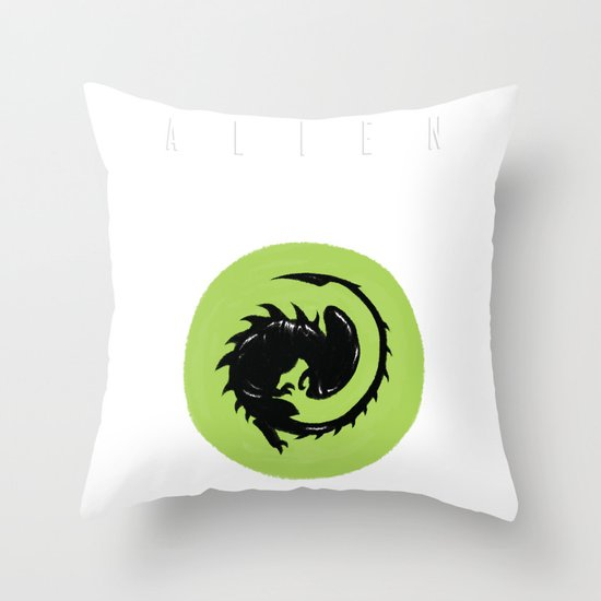 Alien Origin Throw Pillow