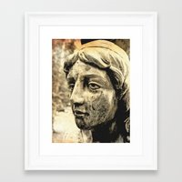 Framed Art Print featuring Face of solitude by Vorona Photography