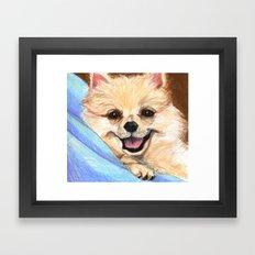 Preppy Pomeranian Framed Art Print