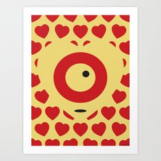 EMPTY HEARTS Art Print