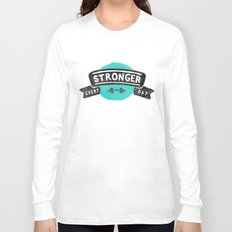 Stronger Every Day (dumbbell) Long Sleeve T-shirt