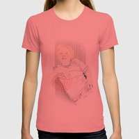 Oscar  Womens Fitted Tee Pomegranate SMALL