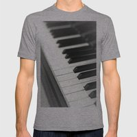 Piano Mens Fitted Tee Athletic Grey SMALL