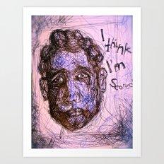 Scared Art Print