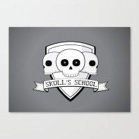 Skull's School Canvas Print