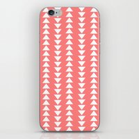 Tribal In Pink & White iPhone & iPod Skin