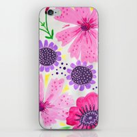 Pinks - Botanical Flower… iPhone & iPod Skin