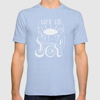Life Is A Single Skip Fo… Mens Fitted Tee Tri-Blue SMALL