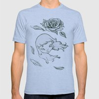 Rose in the wind Mens Fitted Tee Athletic Blue SMALL