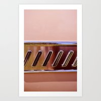 Pink Classic American Ca… Art Print