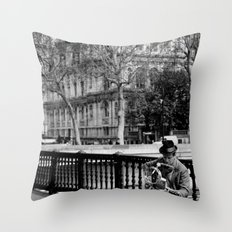 Street Musician Throw Pillow