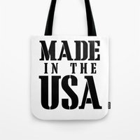 Made In The USA - Black … Tote Bag