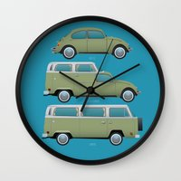 Beetle Camper Wall Clock