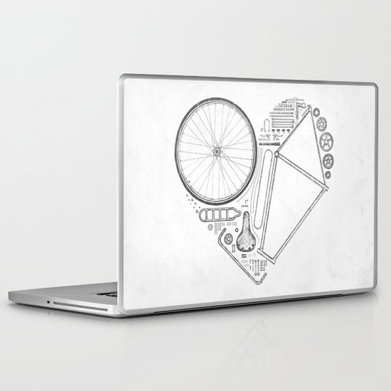Love Bike (Grey) Laptop & iPad Skin