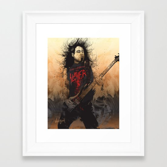 Tom Araya Framed Art Print