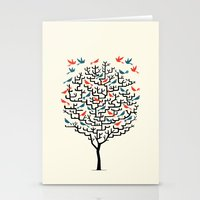 tree Stationery Cards featuring Out On a Lark by Oliver Lake