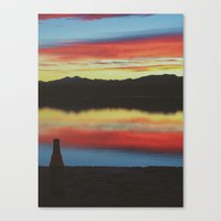 Colorado Skies And Drink… Canvas Print