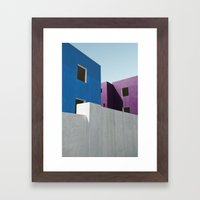 Curacao Minimal II Framed Art Print