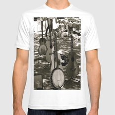 The Band White SMALL Mens Fitted Tee