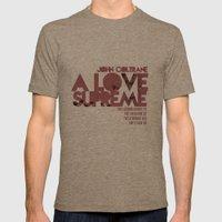 A Love Supreme - John Coltrane / Album Cover Art LP Poster  Mens Fitted Tee Tri-Coffee SMALL