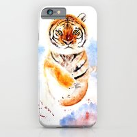 tiger iPhone & iPod Cases featuring Tiger by Anna Shell