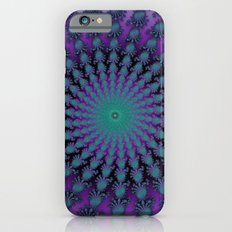 Cool Hued Purple Blue Braided Rug Fractal iPhone 6 Slim Case
