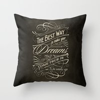 The Best Way - Typography Throw Pillow