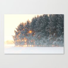 Sunrise In Winter Cloud … Canvas Print