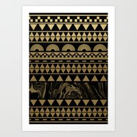 DIAMONDS AND GOLD Art Print