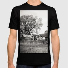 Rustic Rural SMALL Black Mens Fitted Tee