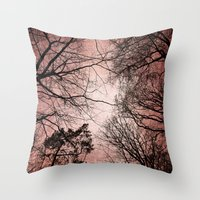 Silhouettes And Sky Throw Pillow