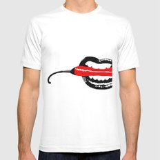 Hot Pepper SMALL White Mens Fitted Tee