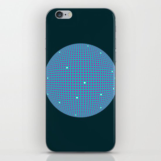 Sphere Blue iPhone & iPod Skin