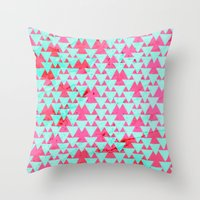 Watercolor Triangle Part… Throw Pillow