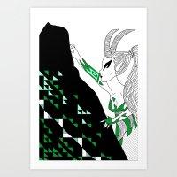 Capricorn / 12 Signs Of … Art Print