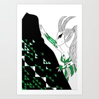 Capricorn / 12 Signs Of … Art Print