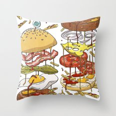 Burger Throw Pillow