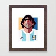 Framed Art Print featuring DM10 | La Albiceleste by Daniel Nyari