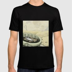 A Rat in a Bucket Black SMALL Mens Fitted Tee