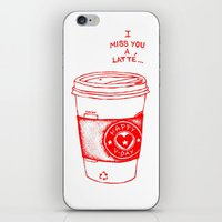 I miss you a latte iPhone & iPod Skin