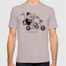 Sloth riding a bike Mens Fitted Tee Cinder SMALL