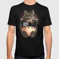 CUDDLE MONSTER Mens Fitted Tee Tri-Black SMALL