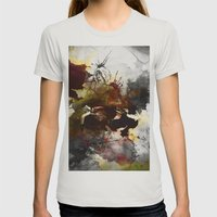 Ink, Love Womens Fitted Tee Silver SMALL