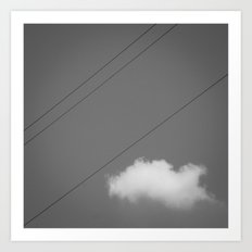String & Cloud Art Print